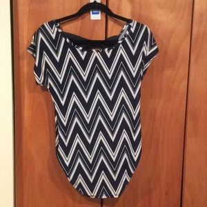 Chevron ruched free kisses top